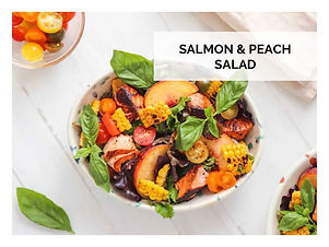 SALMON & PEACH SALAD