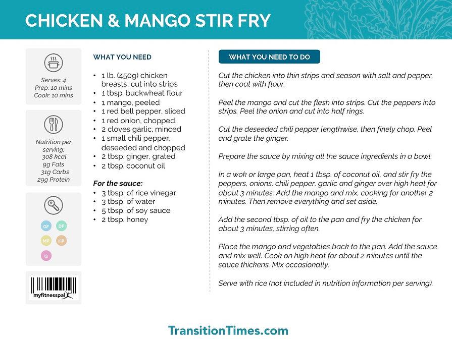 CHICKEN & MANGO STIR FRY