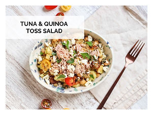 TUNA & QUINOA TOSS SALAD