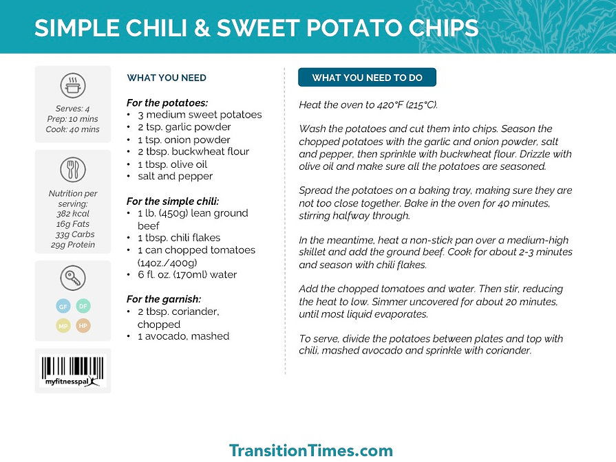 SIMPLE CHILI & SWEET POTATO CHIPS