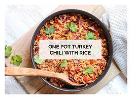 ONE POT TURKEY CHILI WITH RICE