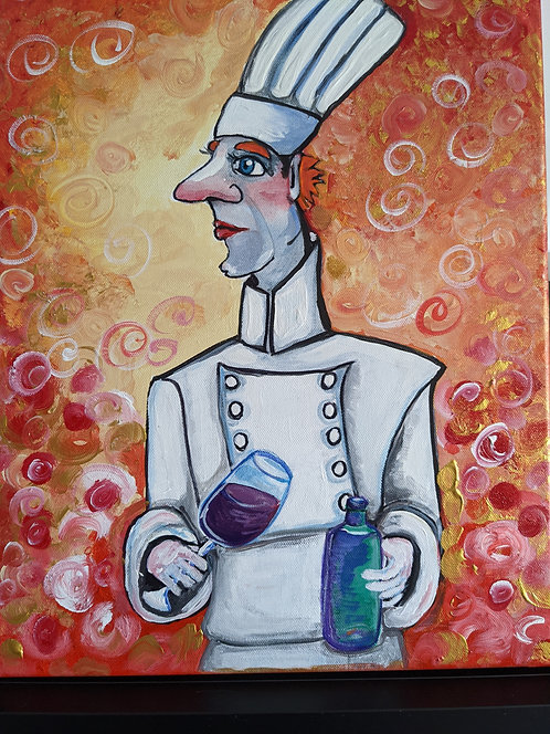 """230 Canvas : """"Sometimes I cook with wine"""""""