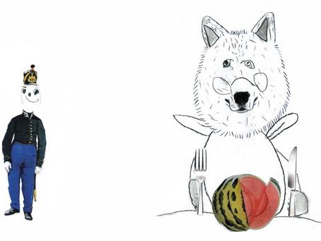Un loup au fusain