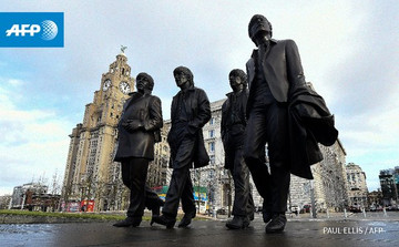 Beatles sculpture finally unveiled