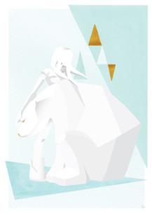 Kosplay gold print