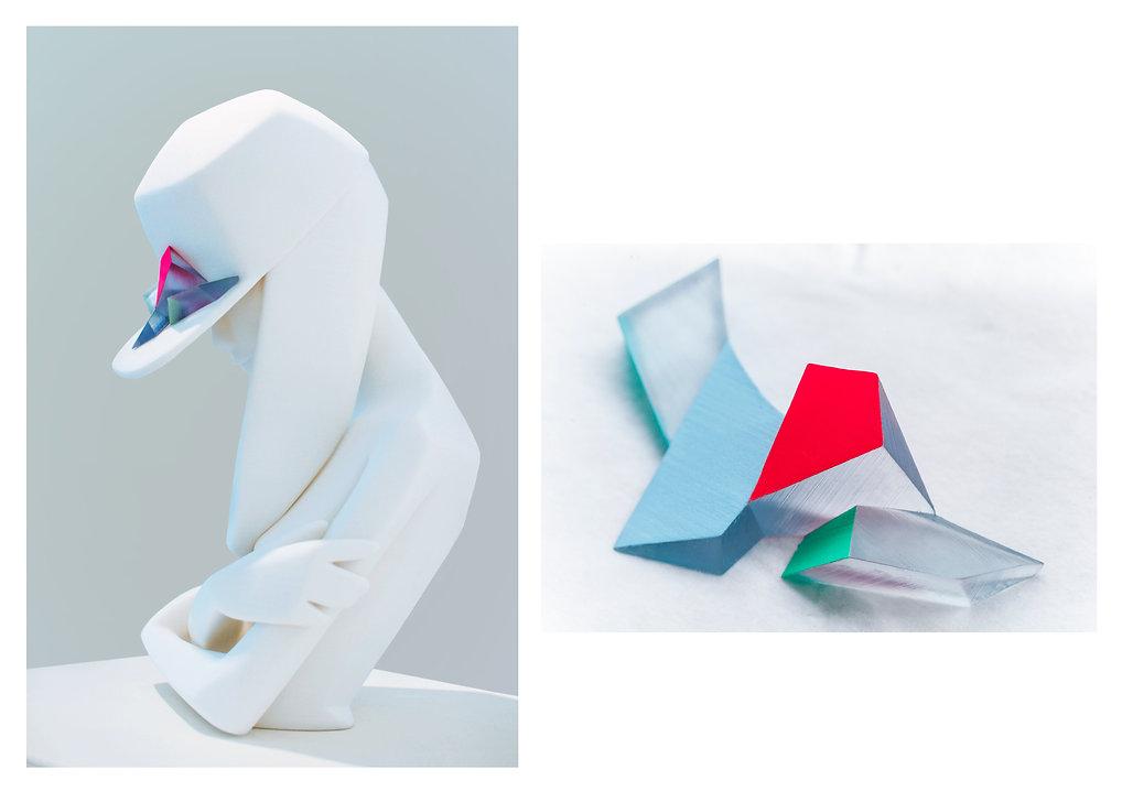 Ice ice baby, sculpture, Anne Juliette Deschamps