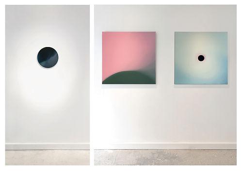 """View of """"Lux"""" exhibition, Ajee, Galerie Lacroix Paris, 2016"""