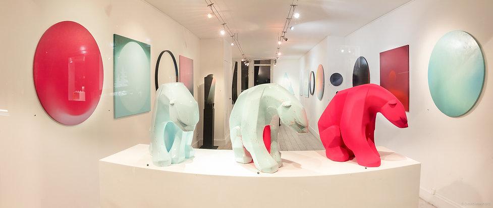 "View of ""Lux"" exhibition, Ajee, Galerie Lefor Openo Paris, 2017"