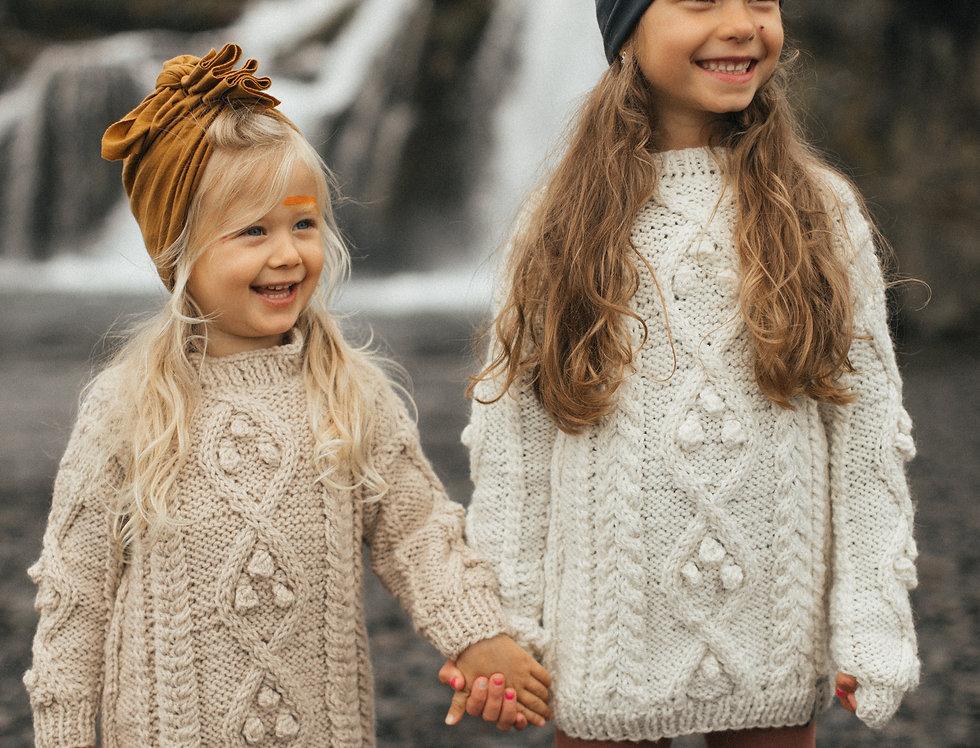 Sweter Lulu MINI ecru