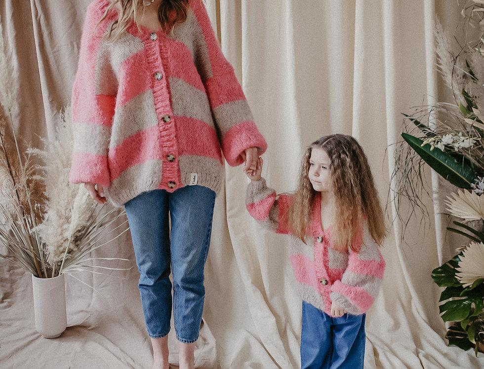 Kardigan Gia Mama&Dziecko róż
