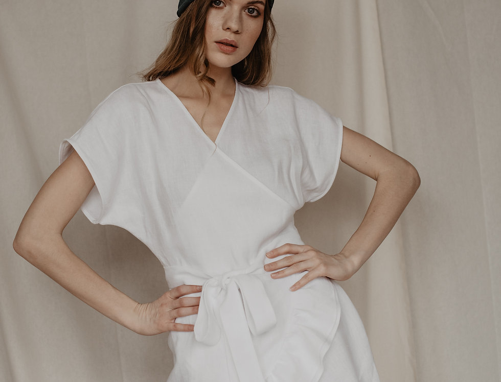 Sukienka Cindy Biały Len