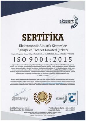 ISO9001 Sertifikası