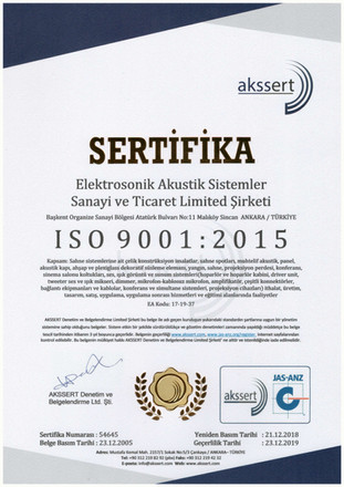 ISO9001 - Certificate