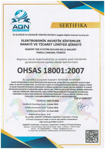 Ohsas18001- Certificate