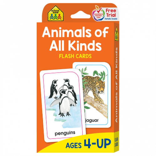 Animals of all kinds Flash Cards 4) decks