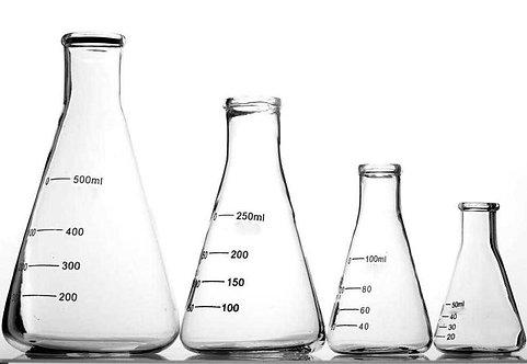 Erlenmeyer Flasks, Glass Borosil
