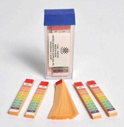 pH Strips, 0-14 range 100/pk