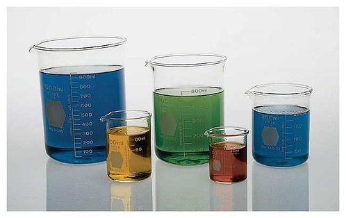 Beakers, Glass Borosil