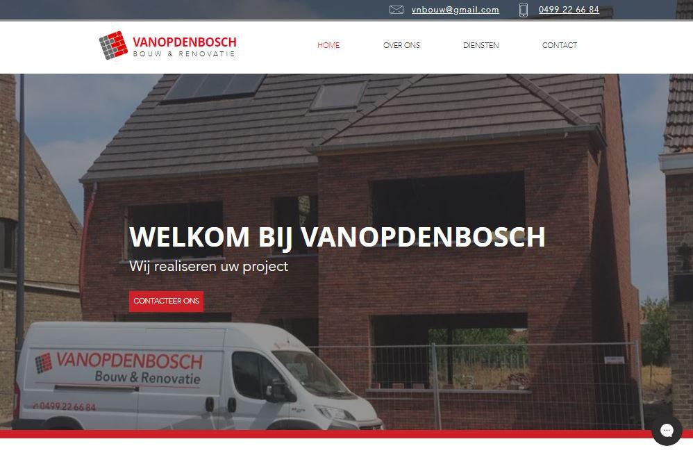 vanopdenbosch bouw en renovatie welkom