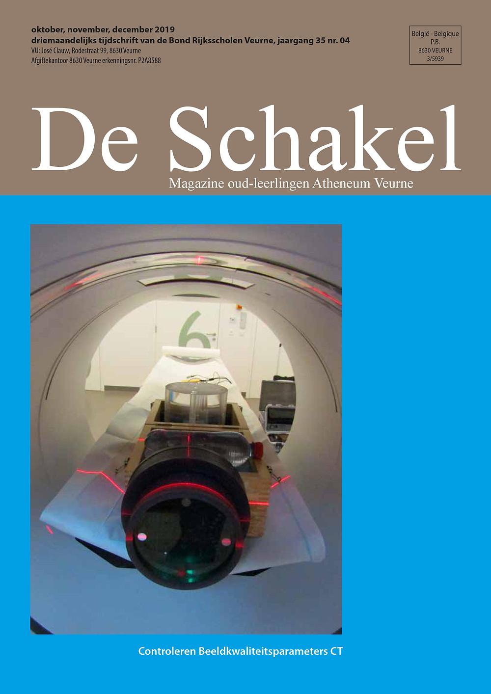 De Schakel, septembernummer 2019, magazine oud-leerlingen atheneum Veurne