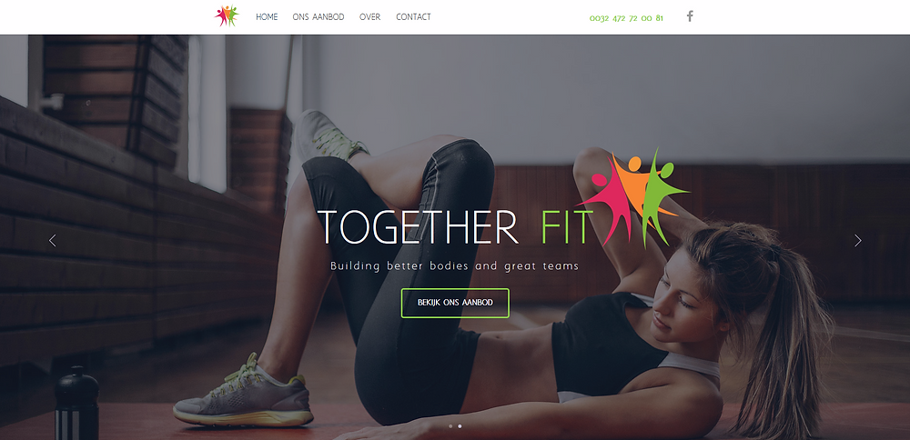 together fit website online site voorbeeld