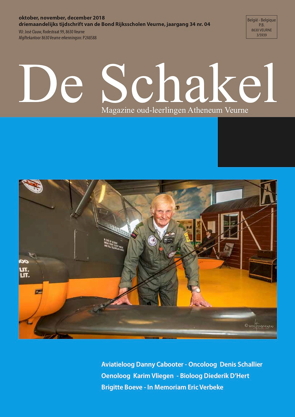 cover de schakel editie december 2018 bond atheneum Veurne