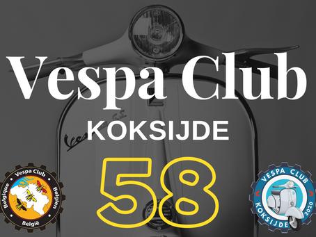 Vespaclub Koksijde nu ook lid van Vespaclub België