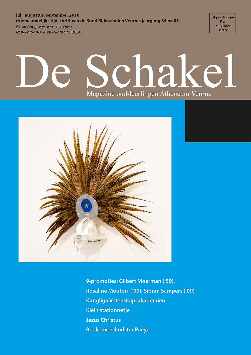 ledenblad De Schakel oud-leerlingenbond atheneum Veurne september 2018