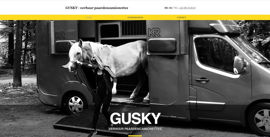 Gusky - Verhuur paardenwagen