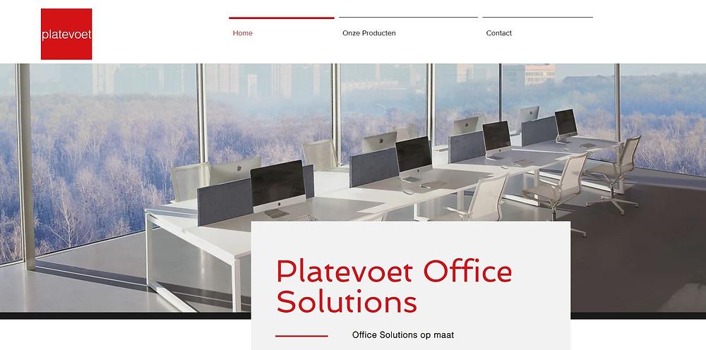 platevoet office solutions nieuwe website online
