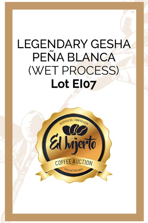 EL INJERTO LEGENDARY GEISHA PEÑA BLANCA  AUCTION LOT EI-07 WET PROCESS