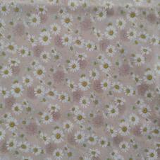 Tissu paquerette rose  - 100% coton OekoTex.jpg