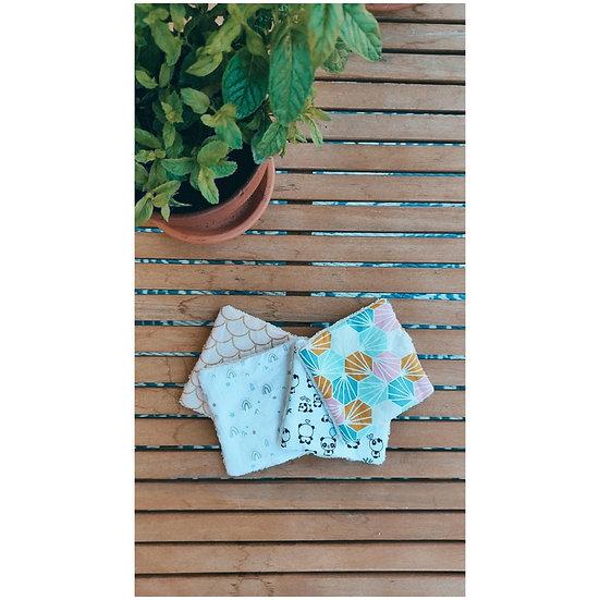 """Lingette lavable """"Bébé/Enfants"""" - Lot de 6 (En stock)"""