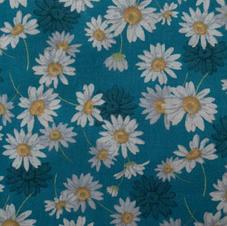 Tissu paquerette bleue  - 100% coton OekoTex.jpg