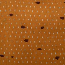 Tissu coton orange pointillé - 100% coton OekoTex.jpg