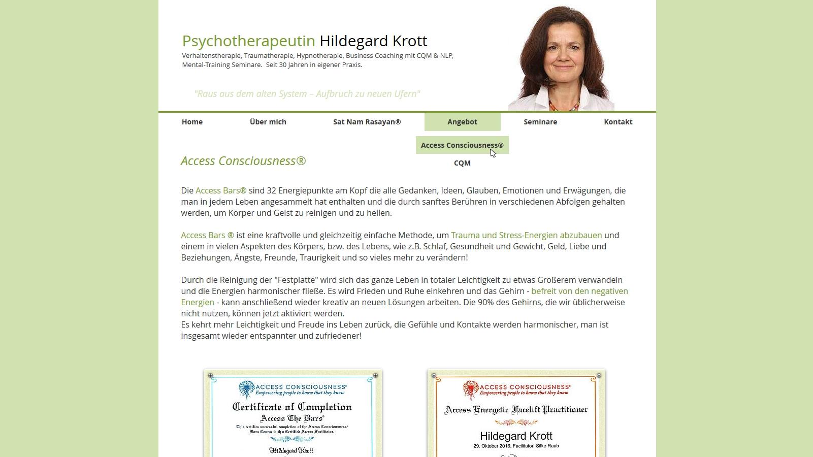 Psychotherapie Hildegrad Krott