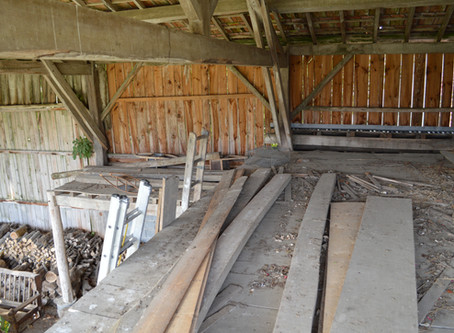 Development of our reading room in the Hanger Barn