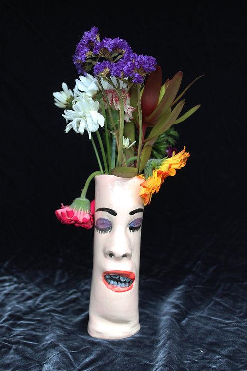 Vase Face-Purple Eye, Red Lip