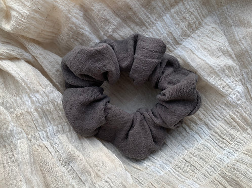 Scrunchie Taupe Brown