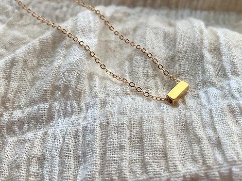 Gouden ketting met rechthoek