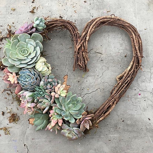 Succulent Heart Wreath