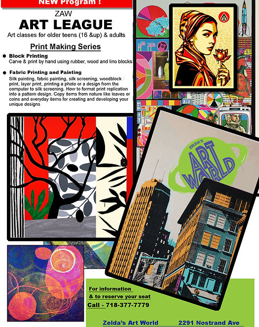 Art Classes for Kids & Adults, Supplies, Framing & Pottery | ZAW Bklyn