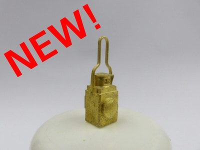 Square Brass lamp.