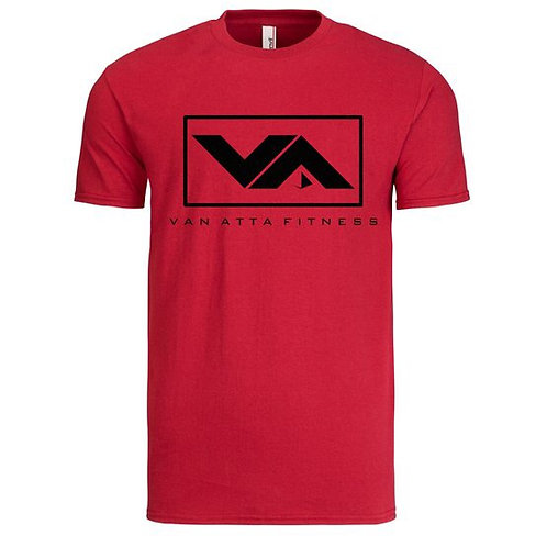 VA FITNESS TEE RED/BLACK