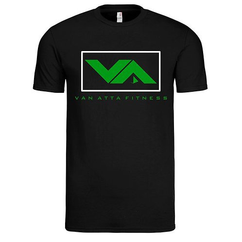 VA FITNESS TEE BLACK/GREEN/WHITE