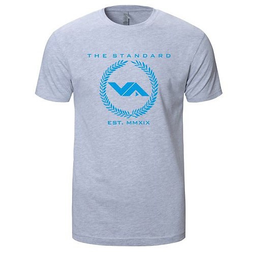 VA FITNESS THE STANDARD TEE GRAY/BABY BLUE
