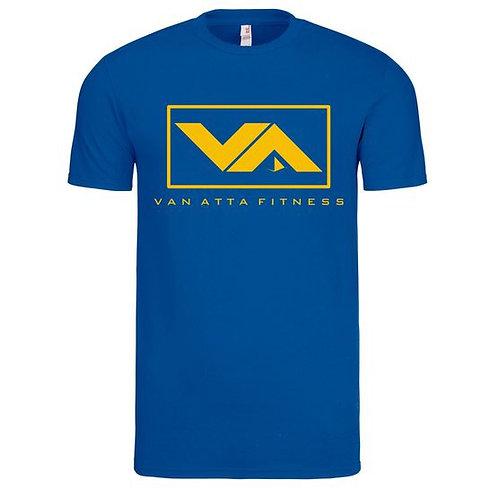 VA FITNESS TEE ROYAL BLUE/GOLD