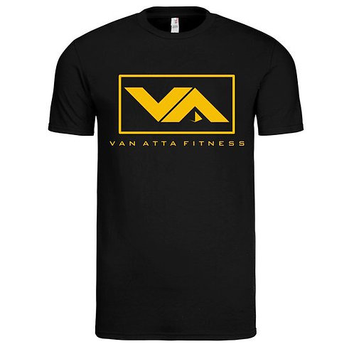 VA FITNESS TEE BLACK/GOLD