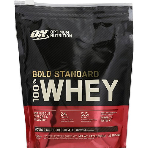 Optimum Nutrition Protein Powder Drink Mix, 100% Whey, Double Rich Chocolate