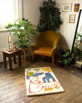 'Fragmentary Space' rug